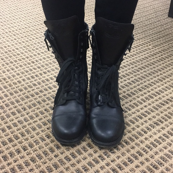 a71cf71d6f8d46 CHANEL Shoes - Chanel Black Quilted Combat Boots